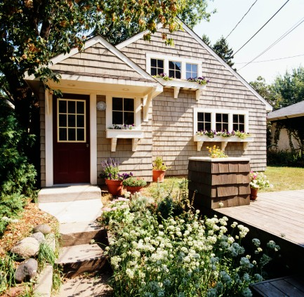 Shingle Style Cottage --- Image by © Royalty-Free/Corbis